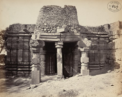 North portico and entrance of the old Jain temple at Sirpur, Basim (Washim) District, Berar